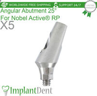 5 Angular Abutment 25° For Nobel Biocare Conical Active Hex RP, Dental Implant