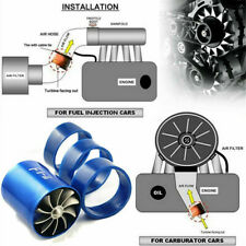 Air Intake Turbonator Dual-Fan Turbine Gas Fuel Saver Turbo Supercharger Power*1