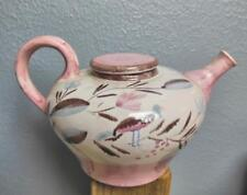 Mid Century Teapot  Made in Germany Deer / Bird  Pink and Brown