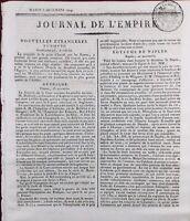 Journal de l'Empire 1809 Armée d'Italie Tyrol Italien Bedol Botzen Napoléon