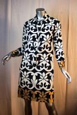 Womans Vintage LANVIN Paris Black White Beige Long Sleeve Dress Size S M