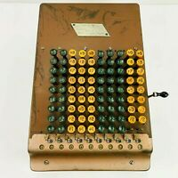 Vintage & Rare 1920's Felt & Tarrant Comptometer Adding Calculator Machine USA