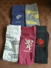 MENS GAME OF THRONES THEMED SOCKS 5 PAIRS UK 9-12 FATHERS DAY NEW BIRTHDAY GIFT