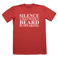 Silence a man with a beard is speaking t shirt beards tshirt funny t-shirt Mens