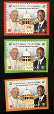 2020 Joint Issue Vatican Ivory Coast Côte d'Ivoire 50 years Pope set IMPERF