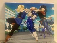Chris Sabat Chuck Huber signed 8x10 Photo Dragon Ball Z Movie Android 17 Beckett