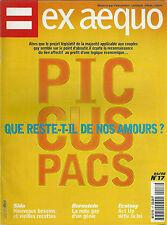 Ex aequo # 17 1998 Gay homosexualité LGBT PACS SIDA culture politique Act up