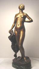 Bronze Female Nude w/Pan C. Wegener 1918