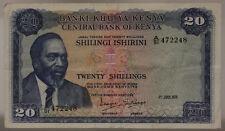 KENYA 20 SHILLINGS 1/07/1977 VF #B1218