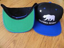 CALIFORNIA REPUBLIC FASHION VINTAGE SNAPBACK RETRO 2-TONE HAT CAP