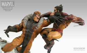 2005 Wolverine Vs Sabretooth #80/300 EXCLUSIVE Sideshow Diorama Statue x-men xm