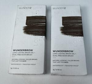 WunderBrow Wunder2  Black/Brown Perfect Eyebrows Brow Gel (PACK OF 2)