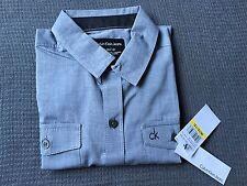 Calvin Klein Big Boy L 14 16 CK LS shirt grey Top Party designer gift birthday