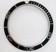 INSERTO lunetta nera Taglia 37.78mm Per Planet Ocean Orologio casi 168 196 082 SU1361