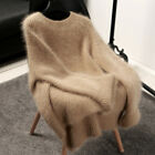 Hot Women Cashmere Mink Fur Pullover Sweater Oversize Lady Stretch Tops Knitting