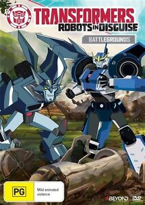 Transformers - Robots In Disguise - Battlegrounds (DVD, 2016) New & Sealed R4