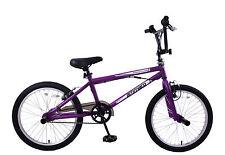 "FREESTYLER 20"" WHEEL KIDS GIRLS BOYS 360 GYRO BMX BIKE STUNT PEGS PURPLE AGE 7+"