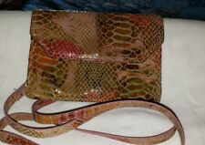 Hobo MARA  Crossbody Leather Bag Adj Strap Iridescent Exotic