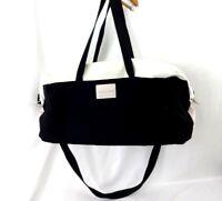 VICTORIA'S SECRET Pink White Black DUFFLE Gym Overnight Bag Travel Zippered Lg
