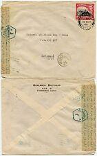CYPRUS to EGYPT 1948 CENSORED FAMAGUSTA 2pi FRANKING..GHALANOS Printed Env