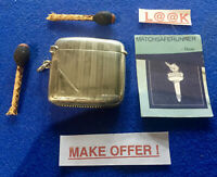 SILVER ART DECO BIRMINGHAM 1926 MATCH HOLDER VESTA CASE MATCH SAFE STRIKER