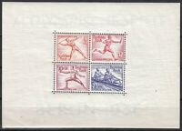 Stamp Germany Mi 628-31 Sc MS613b 1936 War Summer Olympic Munich Sheet MNH