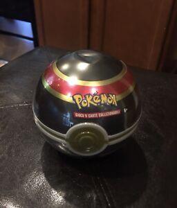 New And Sealed Pokemon TCG Luxury Ball Pokeball Tin 3 Booster Packs G18 Italian