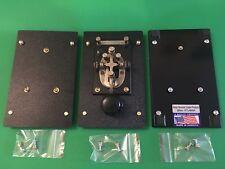 DSCP CUSTOM 3LB Telegraph Morse KEY PRE-DRILLED for J-38KEY 1eaBase w18HDWR