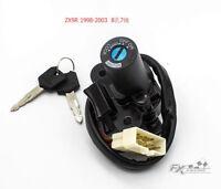 For Kawasaki ZX9R 98-03 1998-2003 Motorcycle Ignition Switch Lock Keys Set FXCNC