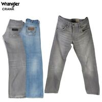 Vintage Wrangler Crank Mens Regular Fit Straight Jeans 26W to 44W