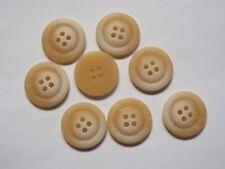 8pc 28mm amarillo paja Chaqueta Abrigo Ropa tejida Chaqueta 4 agujero botón 0192