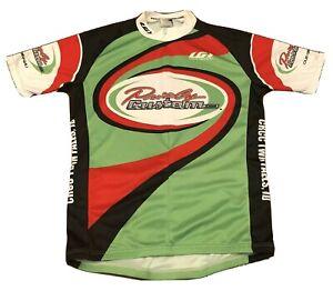 Louis Garneau Men's Cycling Jersey M Green Red Bike SS Half Zip Purely Custom