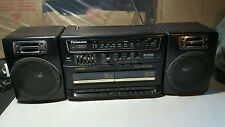 Panasonic RX-CT840 Boom Box, Dual Cassette, FM/AM Radio w/ Aux, Excellent sound