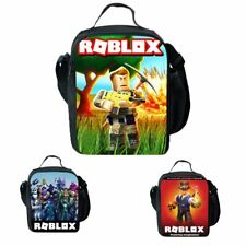 Children Kids Large Lunch Bag with Shoulder Strap Insulated Cool School Lunchbox
