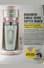 PINK COFFEE MAKER Brews K-Cup Capsules or Coffee Grounds   BELLA