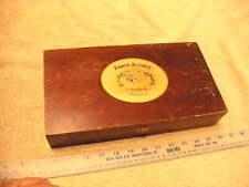 Ramon Allones Maestro  Wooden Cigar Box Great Graphics Dark Stain