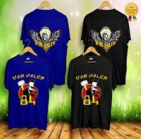 RARE!! Vintage Van Halen Tour of the World Eagle 1984 Gildan T shirt Size S-2XL