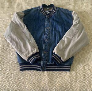 Denim Varsity Baseball  Jacket