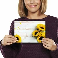 A5 - Sunflower Pretty Yellow Flowers Print 21x14.8cm 280gsm #14826