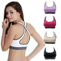Women's Stretch Tank Top Padded Racerback Crop Top Athletic Gym Yoga Sports Bra