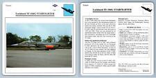 Lockheed TF-104G Starfighter - Trainer - Warplanes Collectors Club Card