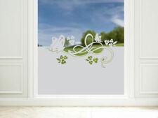 Sichtschutzfolie Fensterfolie Glastur Fenster Wohnzimmer Schmetterling Blumen