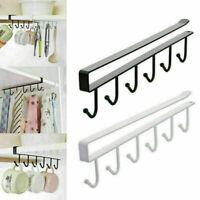 Useful 6 Hooks Clapboard Hook Cup Mug Hangers Home Kitchen Storage Rack Holder