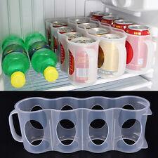 4 Slots Beer Can Rack Holder Storage Plastic Dispenser Fridge Organizer Tool