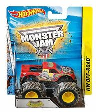 Articoli di modellismo statico Mattel Hot Wheels Monster Jam Scala 1:64