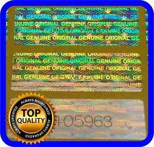 1020 Hologramm Etiketten mit Seriennummern, Siegel, Garantie, Aufkleber 30x10mm
