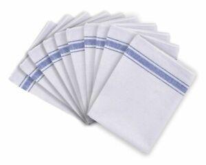 Pcck of 20 Cotton Catering Tea Towels Kitchen Restaurant Bar Glass Cloths