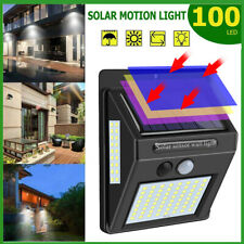 Waterproof 100 LED Solar Power PIR Motion Sensor Wall Light Outdoor Garden Lamp