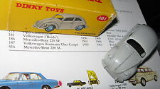 DINKY 181 VW BEETLE EXCELLENT ORIGINAL & VERY GOOD ORIGINAL BOX MISSINGENDFLAP .