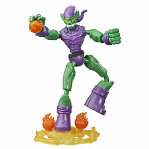 Marvel Spider-Man Bend and Flex Toy, 15cm Flexible Green Goblin Action Figure